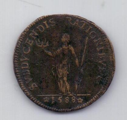 медаль 1588 года Франция