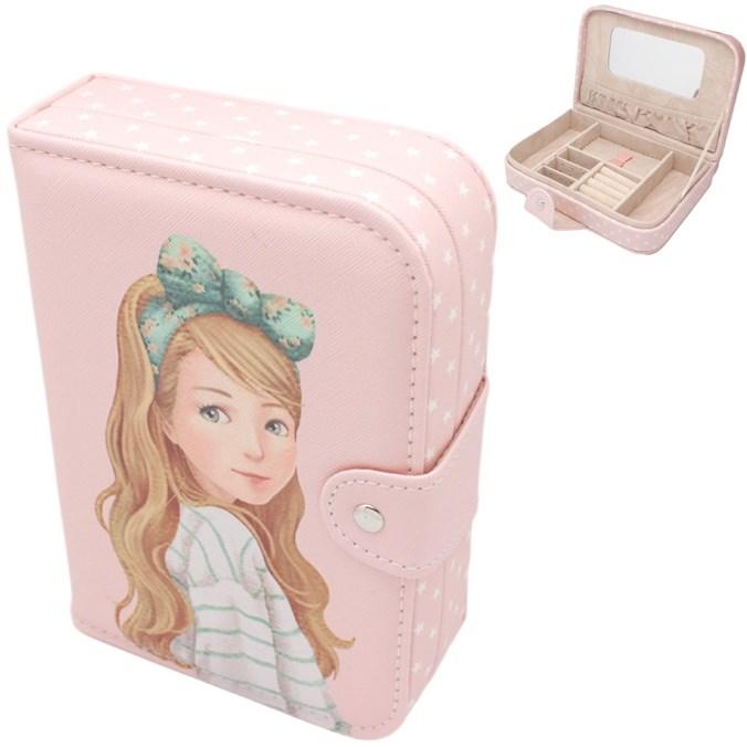 Шкатулка для украшений Маленькая Фея в зеленом (цвет розовый)