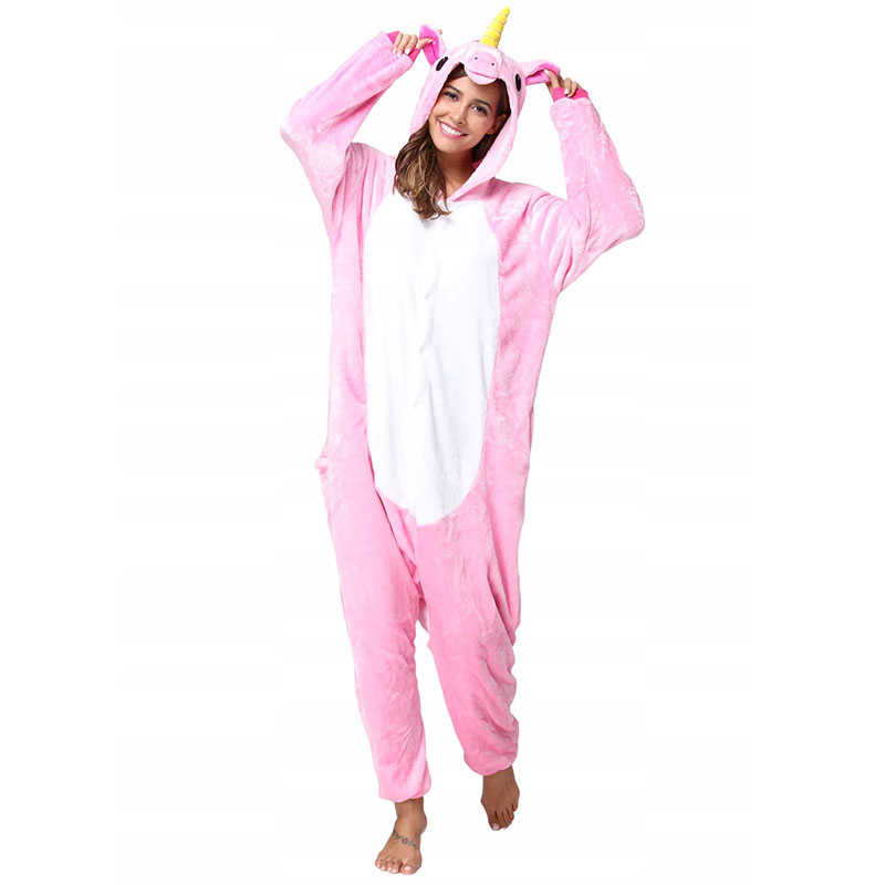 Пижама Кигуруми Единорог Радужный Розовый