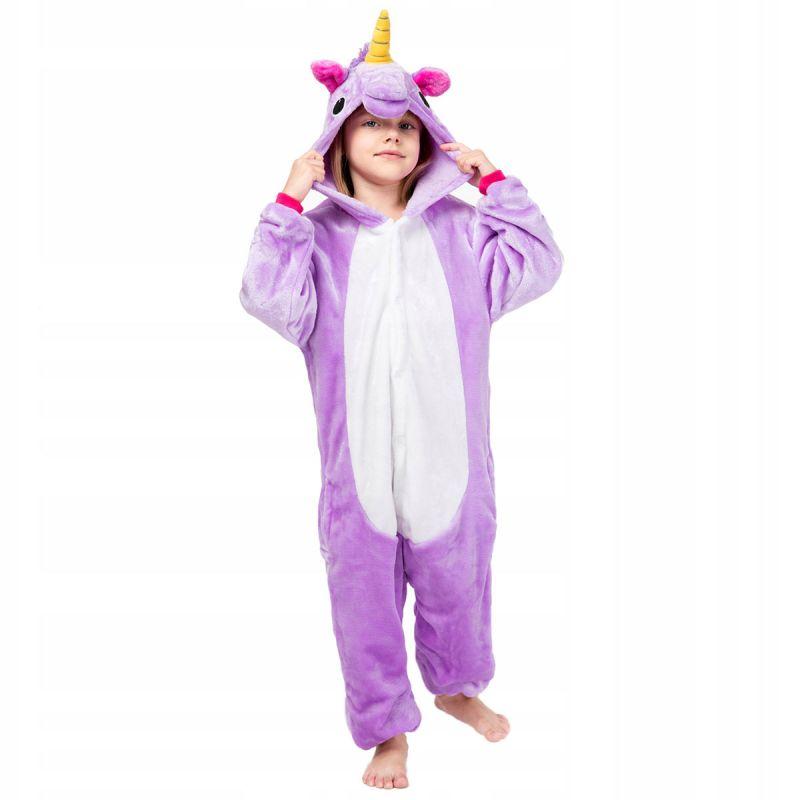 Детская Пижама Кигуруми Единорог Радужный Фиолетовый