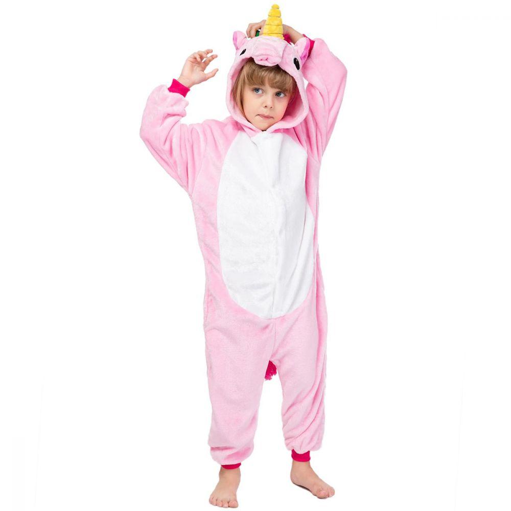 Детская Пижама Кигуруми Единорог Радужный Розовый
