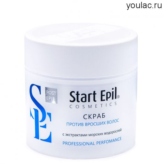 Скраб против вросших волос с экстрактами морских водорослей 300 мл, Start Epil