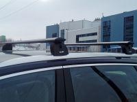 Багажник на крышу Audi Q7 (2015-...), Lux, крыловидные дуги
