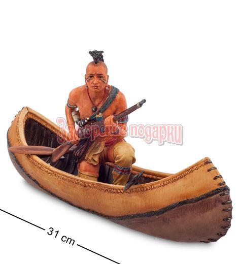 "WS-725 Статуэтка ""Индеец на каноэ"""