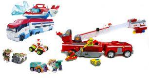Большой Набор игрушек - Патрулевоз + Патрулелет, Большая Пожарная машина и 7 спасателей (Игрушки Щенячий патруль)