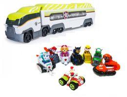 Большой игровой набор из 8-ти спасателей с машинками и патрулевоза (Щенячий патруль)