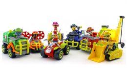 Большой набор из 7-и спасателей с машинками, серии джунгли (Гонщик, Скай, Крепыш, Зума, Маршал, Роки, Райдер) (Щенячий патруль)