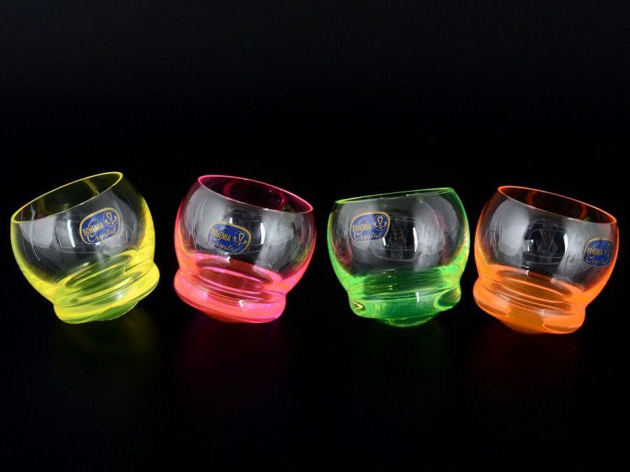 """Набор стаканов для воды 390 мл """"Неон Crazy"""", 4 шт."""