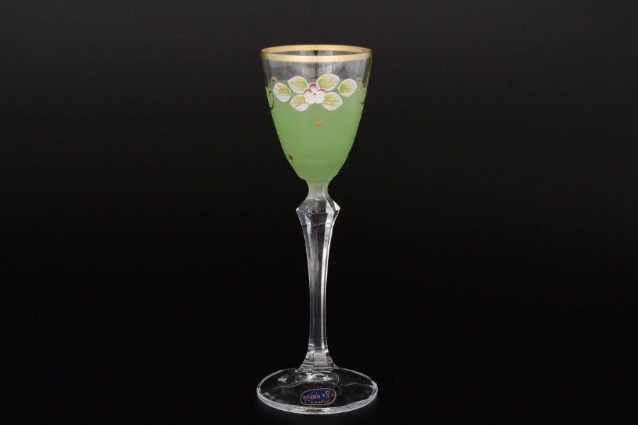 Набор матовых зеленых рюмок для водки 70 мл, 6 шт.