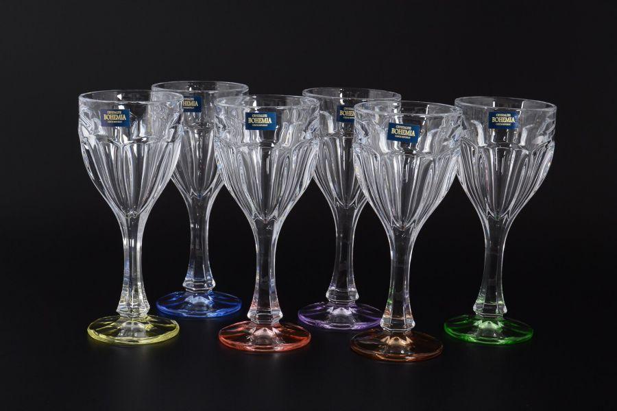 """Набор бокалов для вина 190 мл """"Сафари"""" ассорти, 6 шт."""