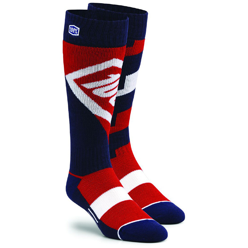 100% - Torque Comfort Moto Socks Red носки, красные
