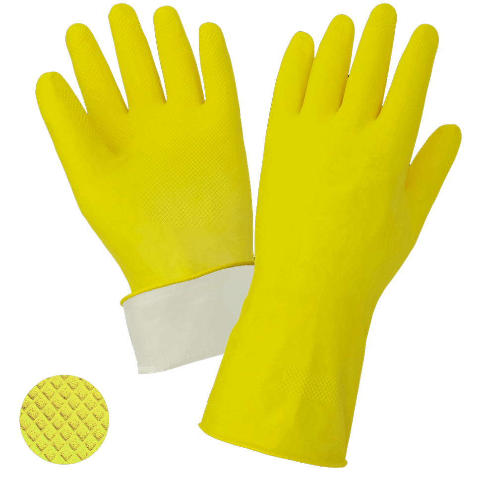 Перчатки хозяйственные ворсовые