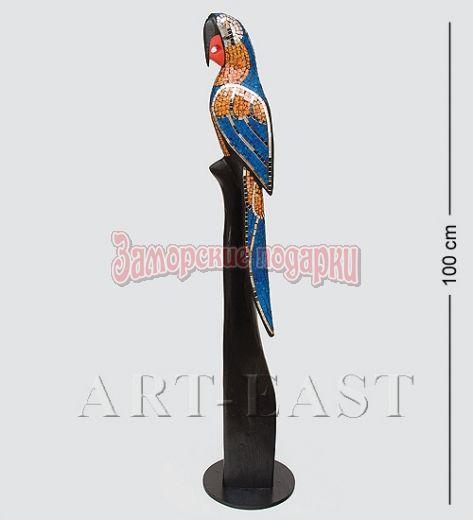 """23-001 Статуэтка """"Попугай"""" дерево+стекл.мозаика 100 см"""