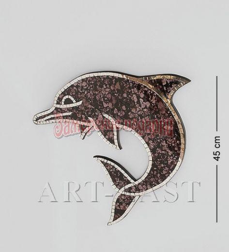 """38-005 Панно """"Дельфин"""" мал. (мозаика, о.Бали)"""