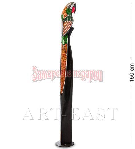 """23-026 Статуэтка """"Попугай"""" дерево+стекл.мозаика 150 см"""