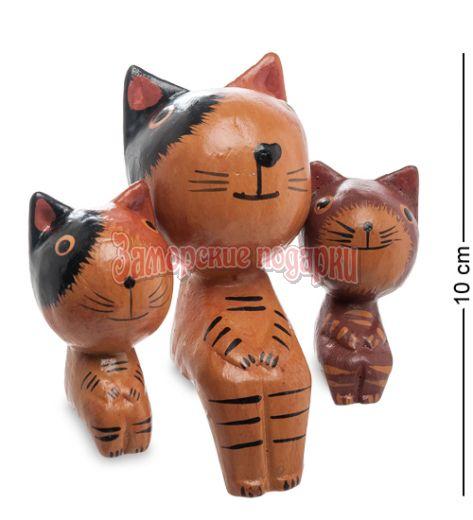 28-029 Статуэтка mini КОШКА с котятами, набор 3 шт