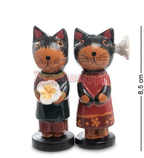28-031 Статуэтка mini КОТ и КОШКА с цветком, набор 2 шт