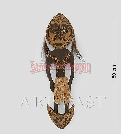 """27-025 Панно """"Абориген Папуа"""" 50см (Папуа)"""