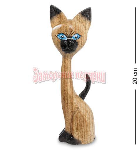 """40-003 Статуэтка """"Кошка удивленная"""" суар 20 см"""