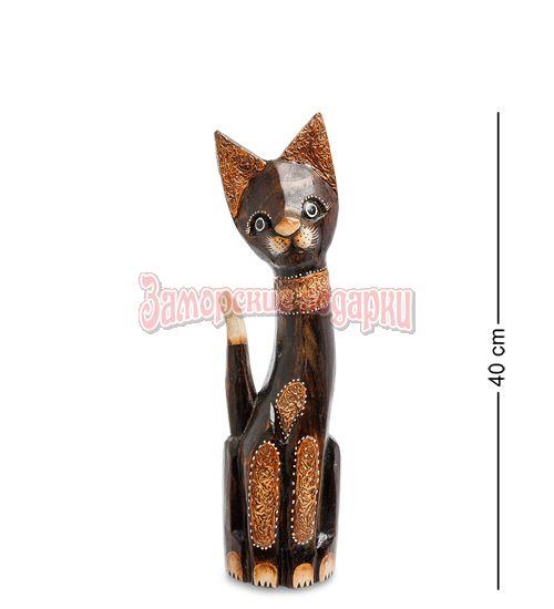 """99-099 Статуэтка """"Кошка"""" 40 см (албезия, о.Бали)"""