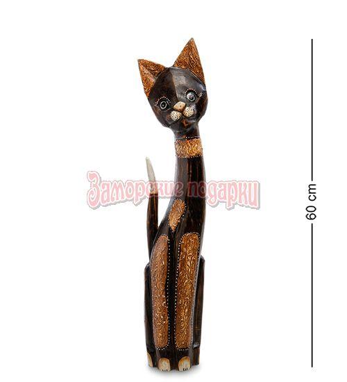 """99-097 Статуэтка """"Кошка"""" 60 см (албезия, о.Бали)"""
