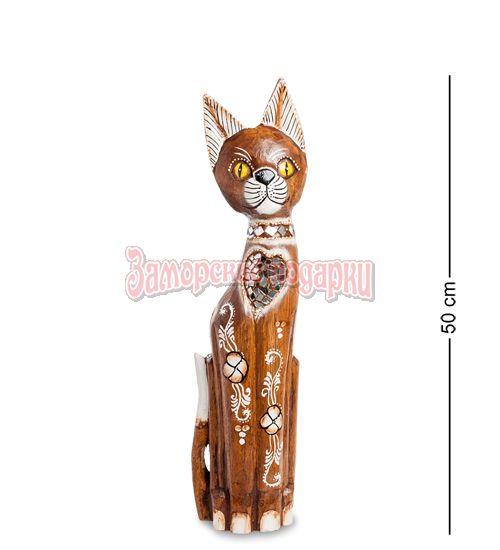 """99-133 Статуэтка """"Кошка"""" 50 см (албезия, о.Бали)"""