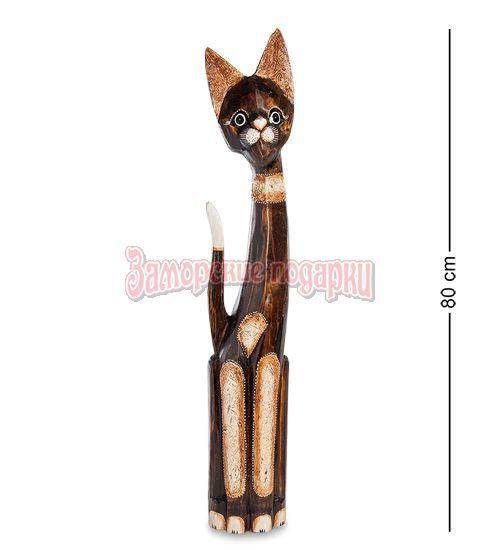 """99-096 Статуэтка """"Кошка"""" 80 см (албезия, о.Бали)"""