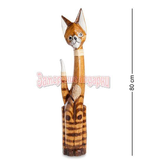"""99-026 Статуэтка """"Кошка"""" 80 см (албезия, о.Бали)"""