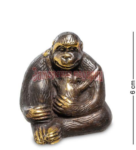 """24-013 Фигура """"Горилла"""" бронза (о.Бали) малая"""