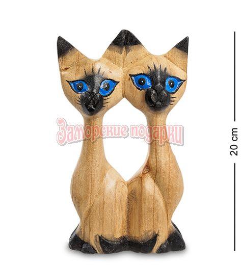 """40-010 Статуэтка """"Кошки-близнецы"""" суар 20 см"""