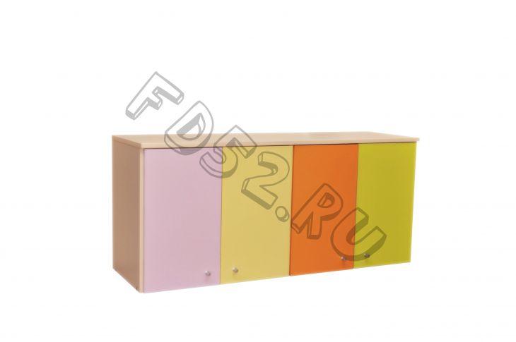 "Антресоль для шкафа   ""Краски"" 4 секции, 1122*352*500"