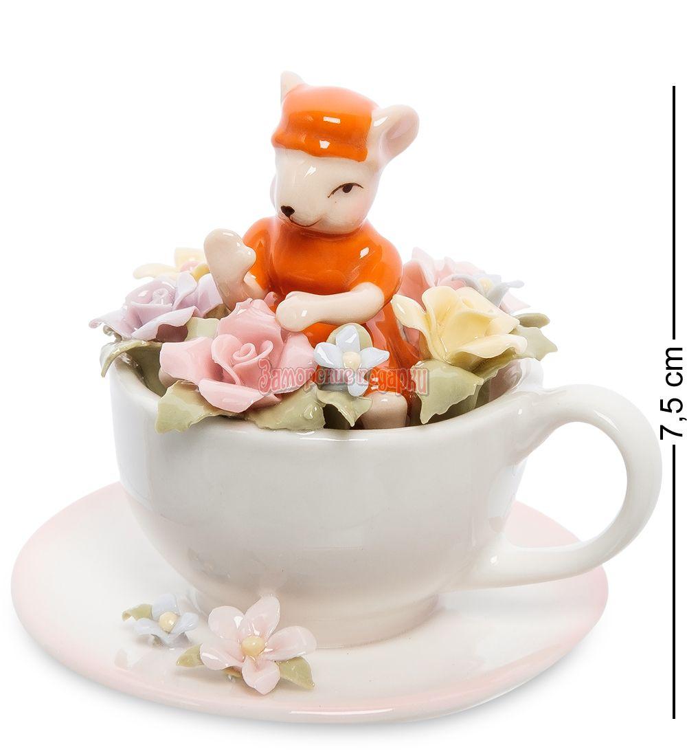 """CMS-62/ 3 Статуэтка """"Мышка в цветочной чашке"""" (Pavone)"""