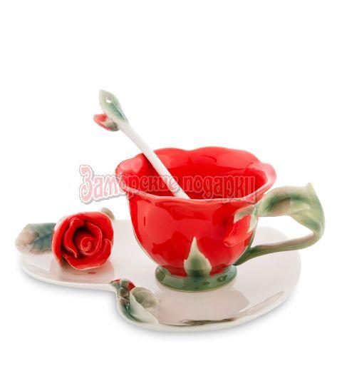 """FM-01/ 2 Чайная пара """"Красная Роза"""" (Pavone)"""