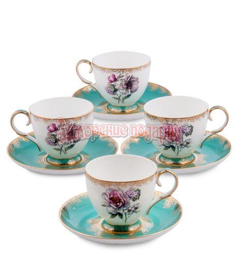 "JK- 22 Чайный набор на 4 перс.""Цветок Неаполя"" (Pavone)"
