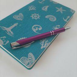 фиолетовые металлические ручки