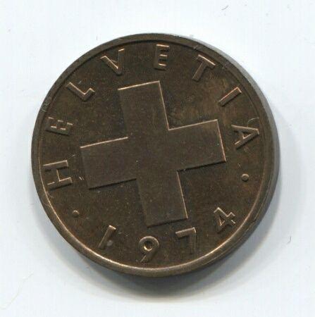 2 раппена 1974 года Швейцария