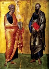 Икона Петр и Павел Византия 14 век