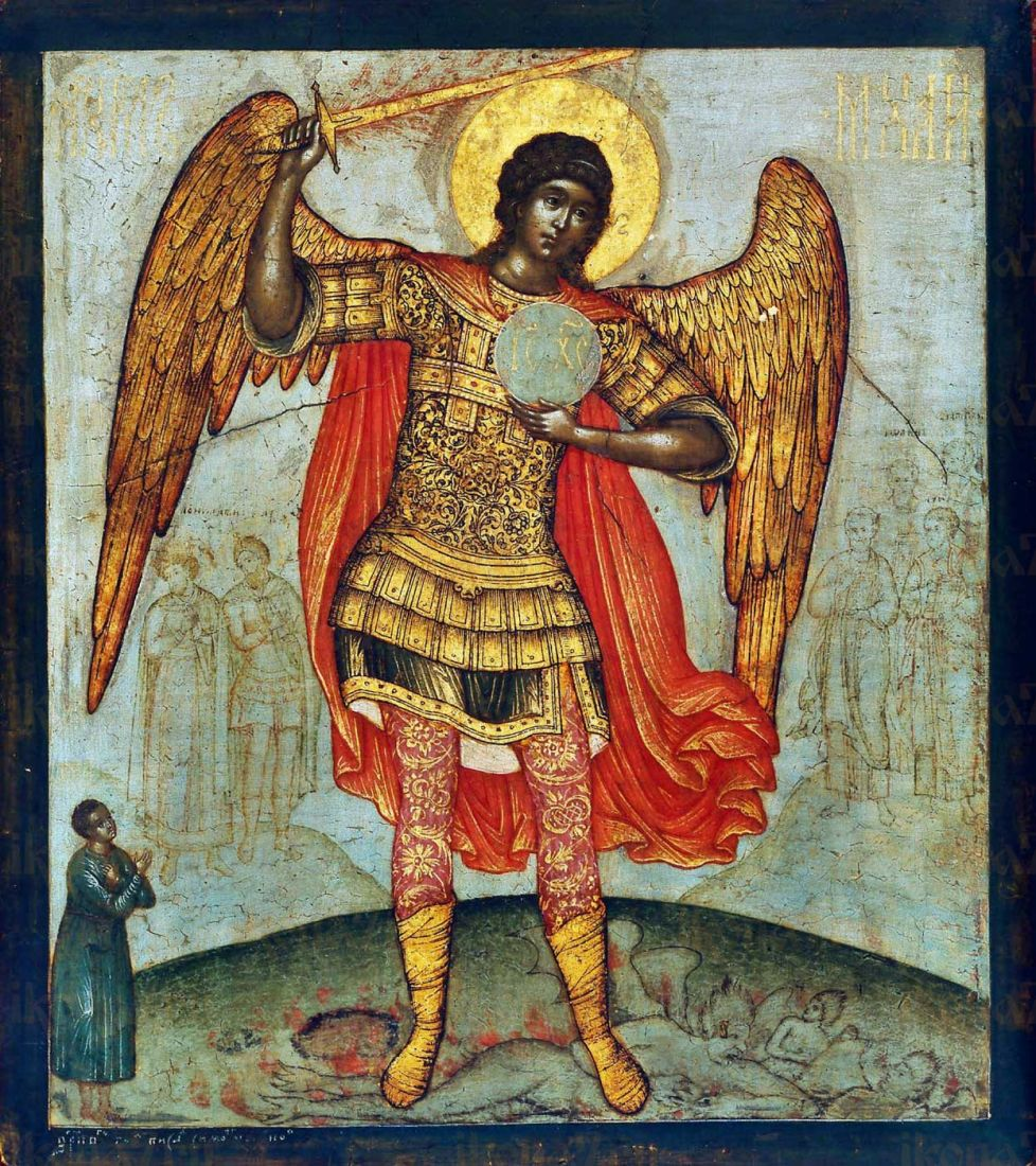 Икона Архангел Михаил (Симон Ушаков)
