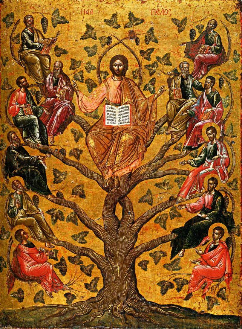 Икона Древо Жизни (Спас Истинная Лоза) 16 век
