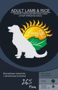 LiveRa Adult Lamb & Rice Полнорационный корм для собак с ягненком и рисом, 15 кг.