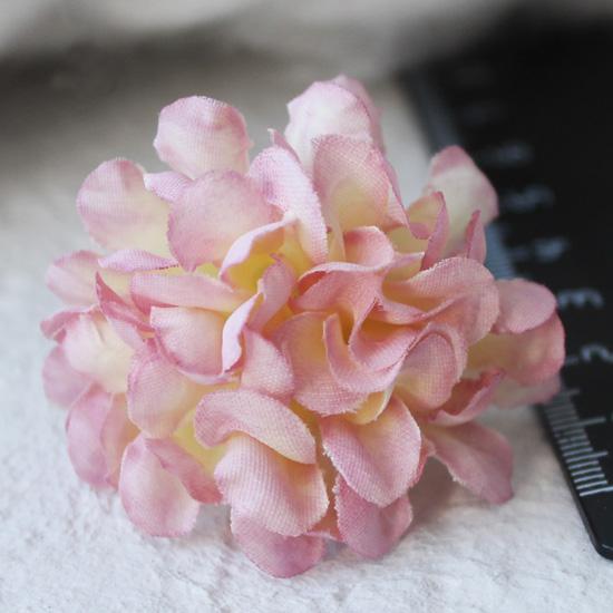 Тканевыйцветок нежно-розовый 3 см Кукольная миниатюра