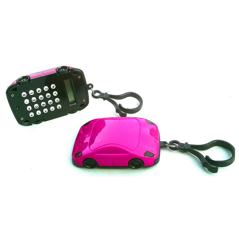 Калькулятор Брелок 8-разрядный Машинка (цвет розовый)