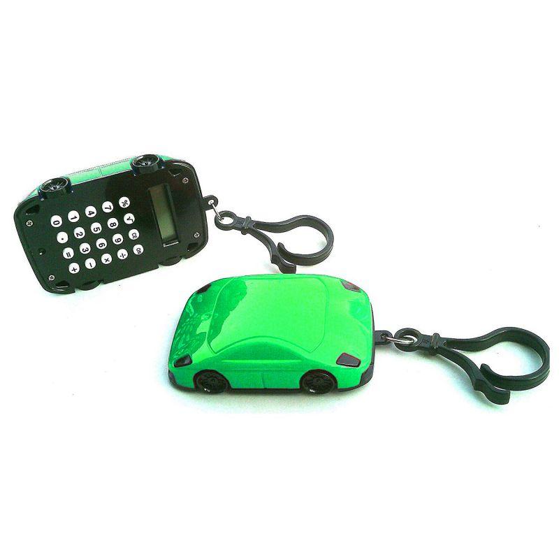 Калькулятор Брелок 8-разрядный Машинка (цвет зеленый)