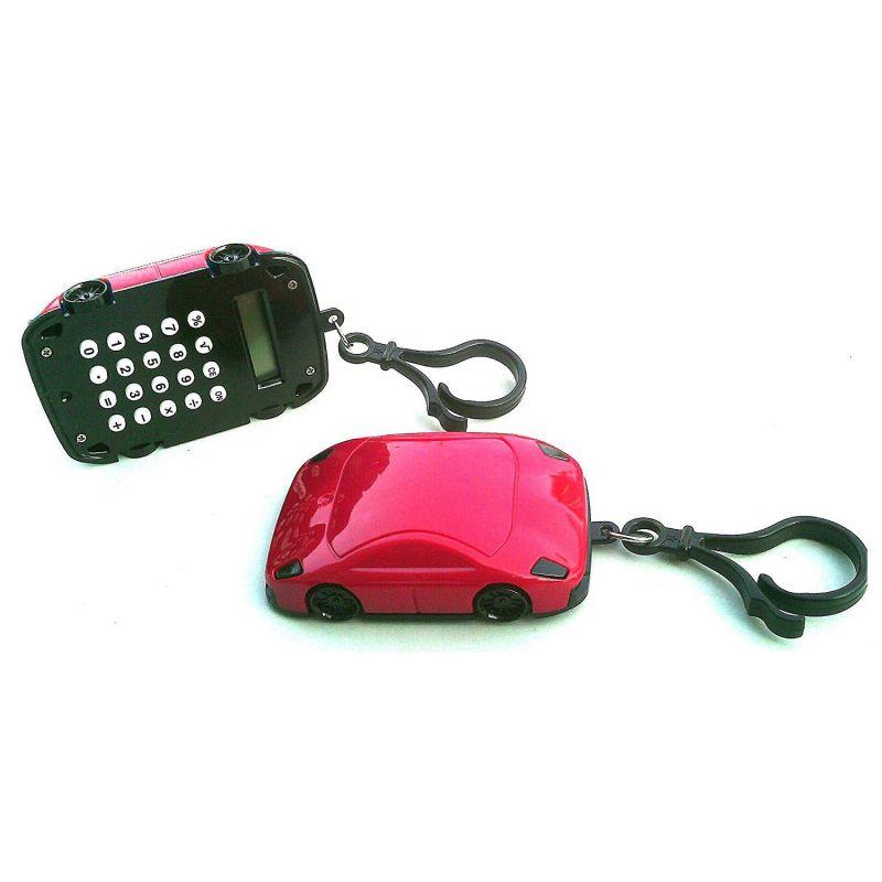 Калькулятор Брелок 8-разрядный Машинка (цвет красный)