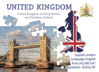 Postcard Step to the United Kingdom