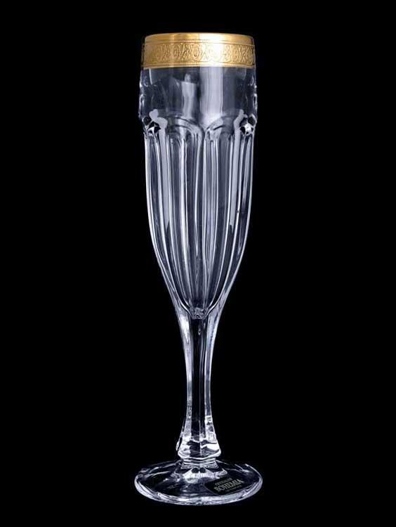 "Набор фужеров для шампанского 150 мл ""Сафари"" голд"