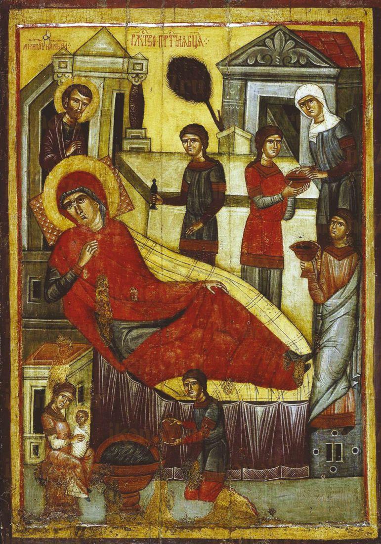Икона Рождество Пресвятой Богородицы (14 век)