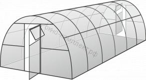 """Теплица """"Усиленная"""" ширина: 3м, высота: 2,1м , длина: 8м ,  профильная труба 20*40*1,5мм"""