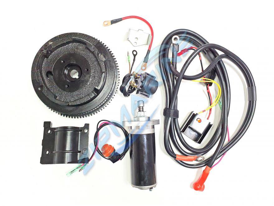 Комплект электрозапуска для двухтактных моторов типа Ямаха
