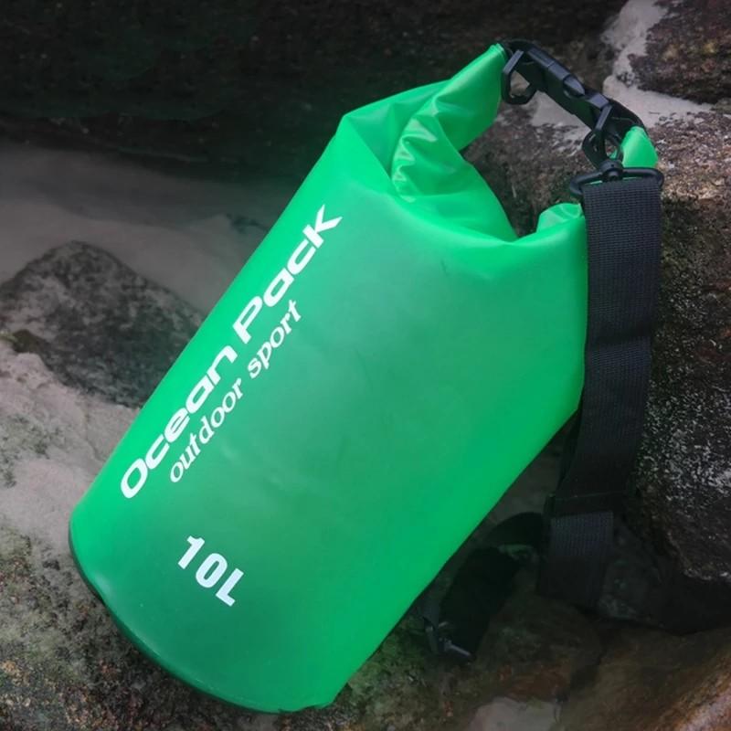 Водонепроницаемый мешок-рюкзак Ocean Pack Outdoor Sport 10 л (цвет зеленый)